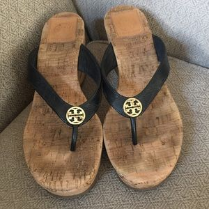 (2464). Tory Burch Wedge Sandals.  Size 8